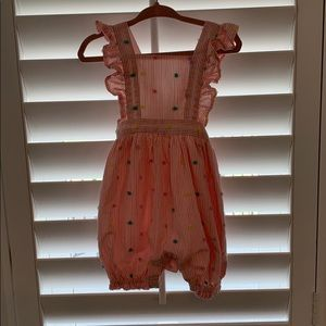 Baby Gap Pink and White Stripes Romper